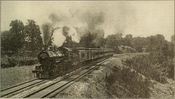 13. This train chugging along through Western Maryland was photographed in 1901.