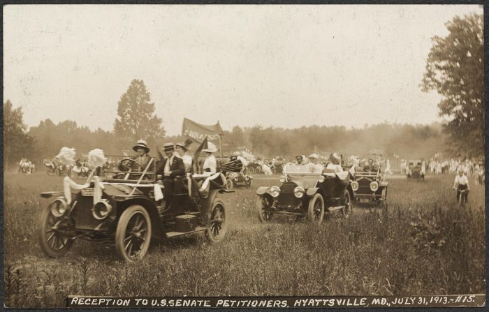 9. A reception to Senate petitioners in Hyattsville, in 1913.