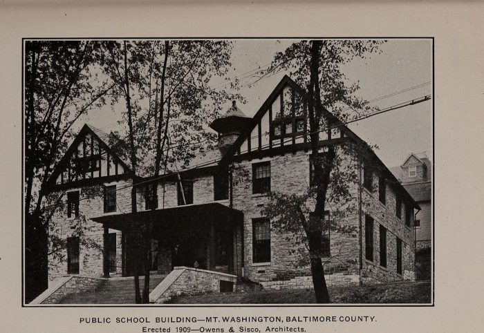 15. A Public School in 1909, in Baltimore County.
