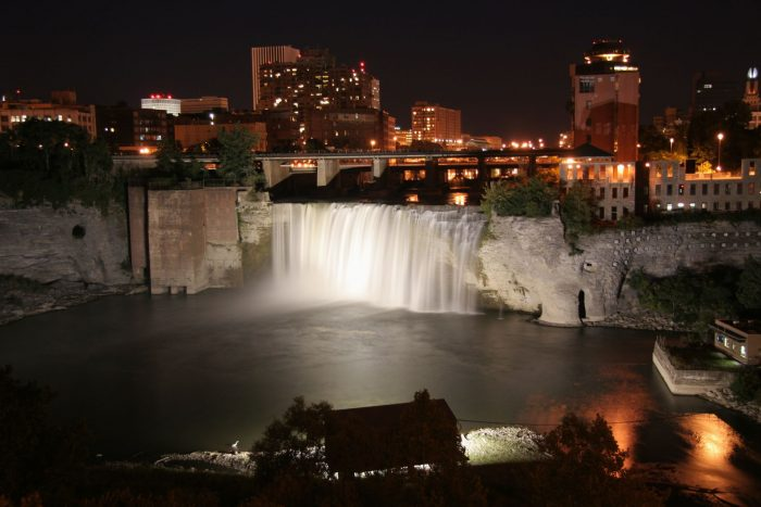 12. A waterfall that has managed to find itself in a more urban setting, do you know what we're looking at?