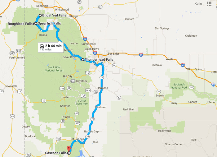 15. Go on the ultimate South Dakota waterfalls road trip!
