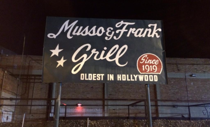 4. Musso & Frank Grill in Hollywood -- 1919