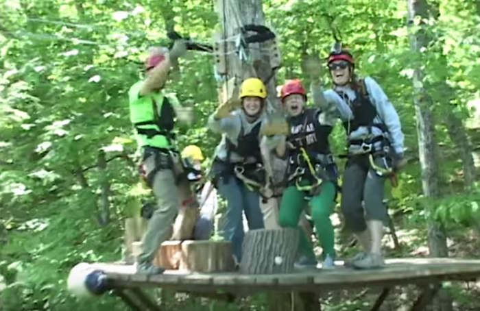 Completing the course takes about 2-3 hours, and is a blast for all ages.