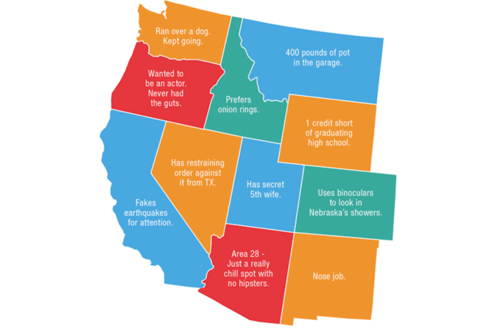 2. A Map of Every State's Biggest Secrets