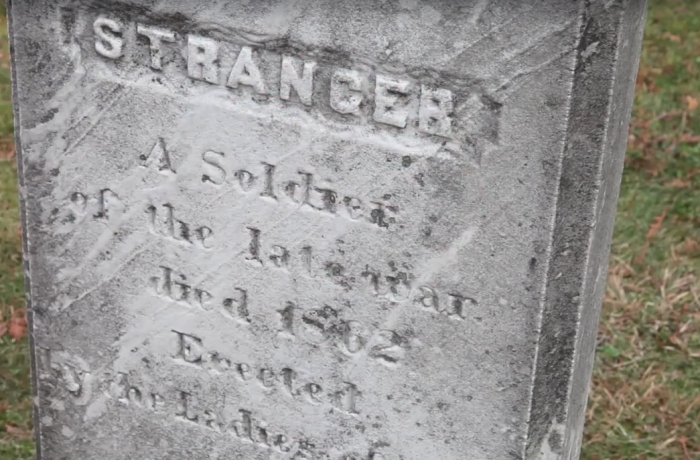 10. A Confederate soldier's body was buried in the town of Gray.