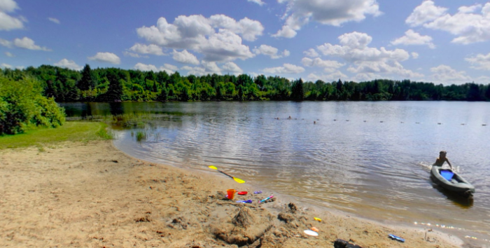 7. Hayes Lake State Park Beach