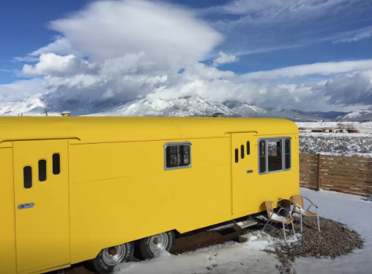 7. Or stay in a trailer like this vintage one near Taos.