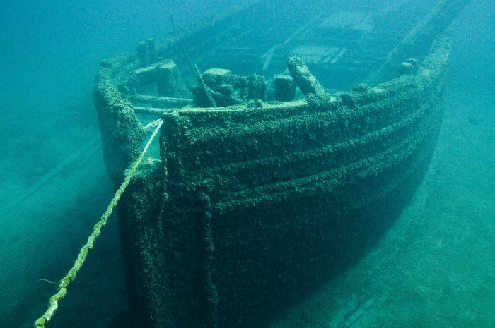 10. Shipwreck Cove in Lake Huron