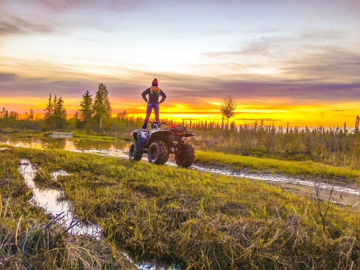 7. Go four wheeling underneath the midnight sun.