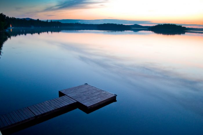 4. Doesn't this tranquil shot of Saranac Lake just instantly put you at peace? Beautiful!