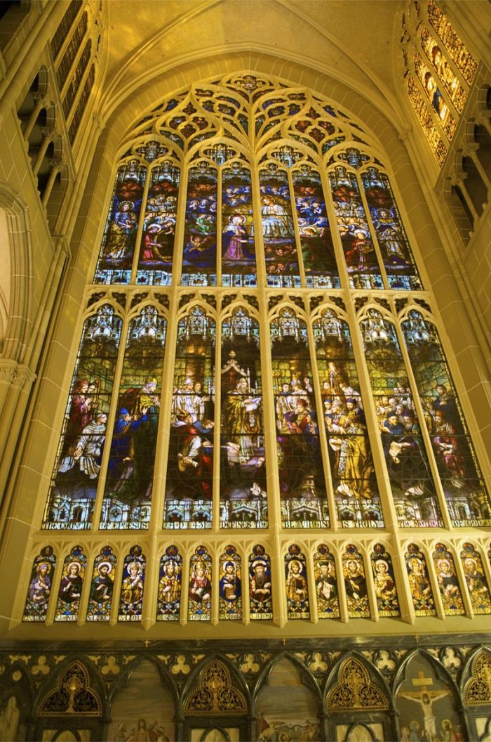 4. This Basilica houses the world's second largest, handmade stained glass window.