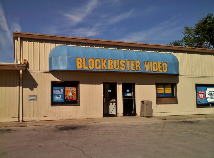 6. We went to video stores to rent movies.