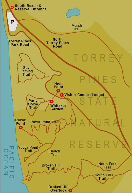 Torrey Pines Map