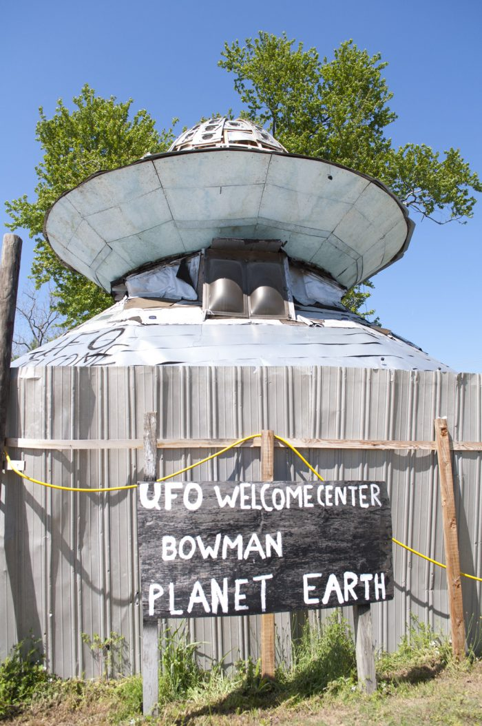 7. Discover a hidden curiosity at the UFO Welcome Center - Bowman, SC