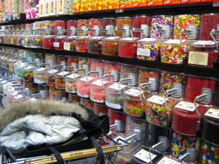 10. The unforgettable candy wall.
