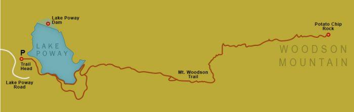 Woodson Mountain Map