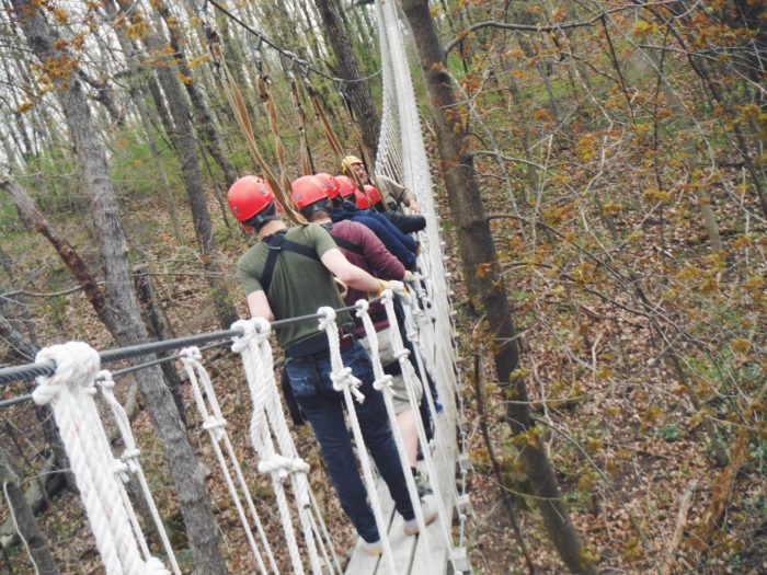2. This canopy tour is a whopping 2.5 hours.