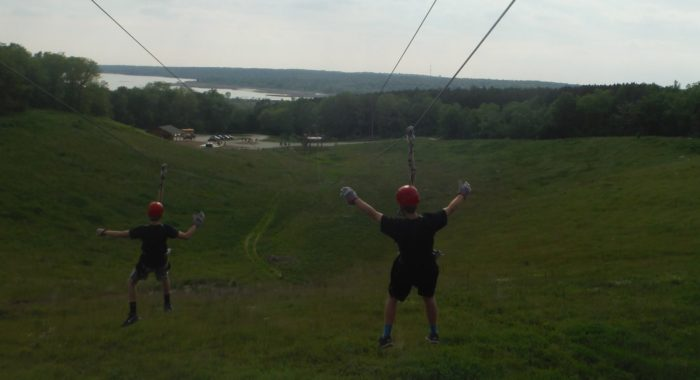 11. There are 8 different zip lines to go on, too.