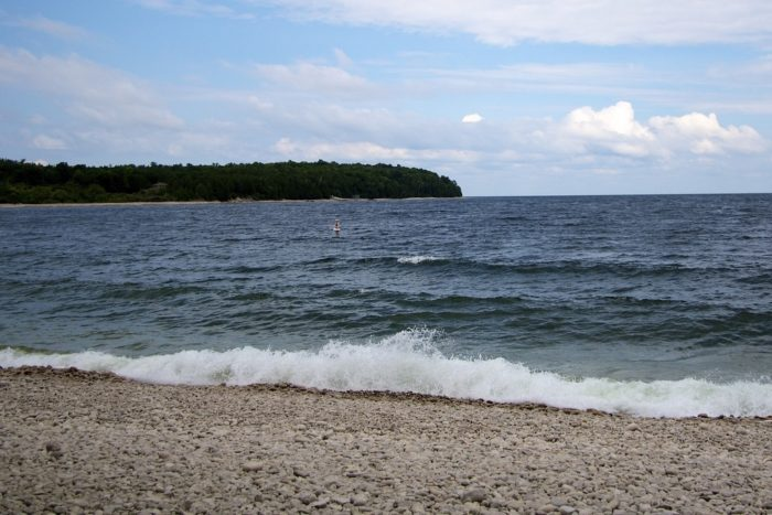 5. Make your way up to Washington Island and take a leisurely walk on Schoolhouse Beach.
