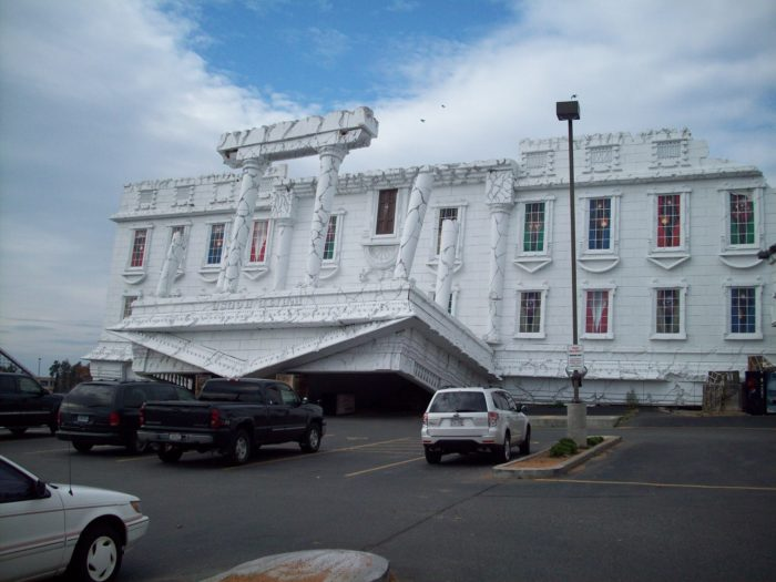2. Figure out where there is an upside down White House in Wisconsin.