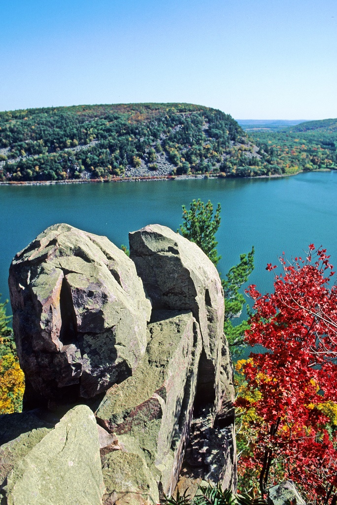 4. Take a hike at the very scenic Devil's Lake State Park.