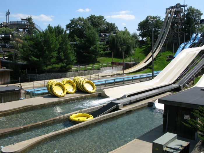 1. Of course, you have to start your day going down ridiculously awesome water slides.