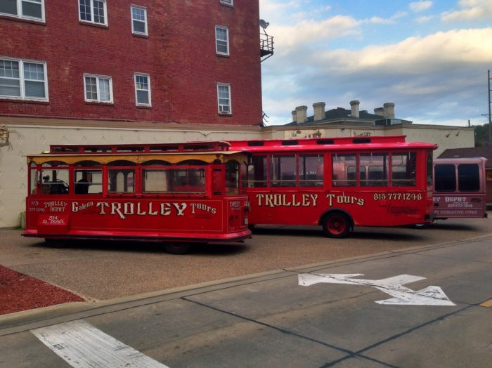 1. You can take a trolley around downtown.