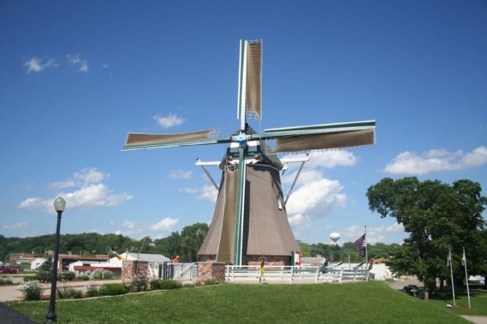 1. You will be in awe over just how large this windmill is.