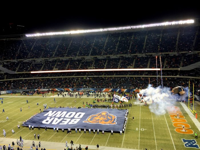 13. BEAR DOWN at Soldier Field.
