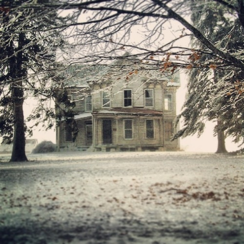 5. This McLean home is super eerie, as it is almost faded in a fog.