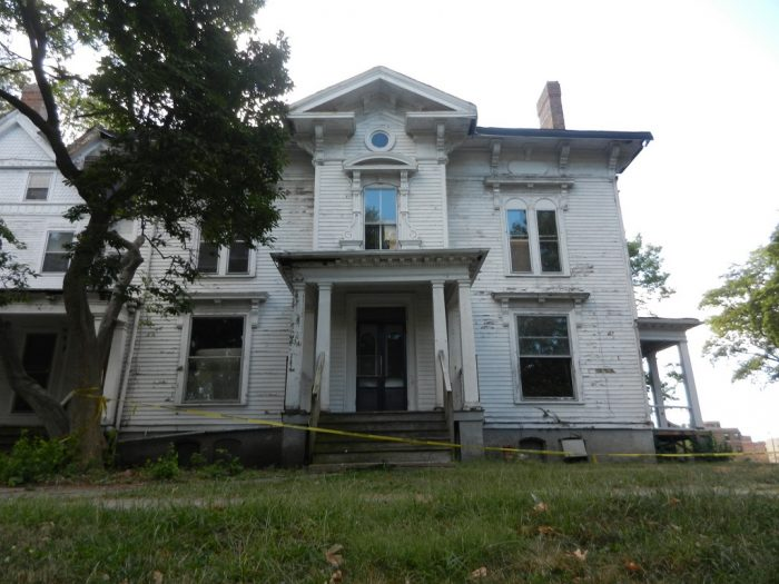 7. This Bloomington home looks super imposing and scary.