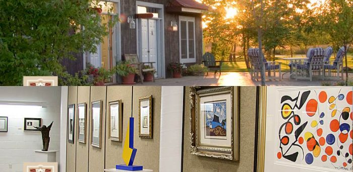 After walking through the park, you can check out the artists' work and the gorgeous restored buildings.