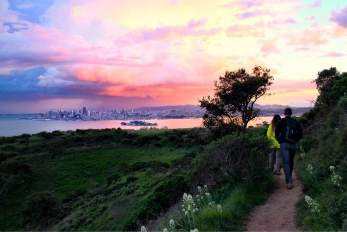 1. Angel Island grants incredible and serene views of the city and the Bay.