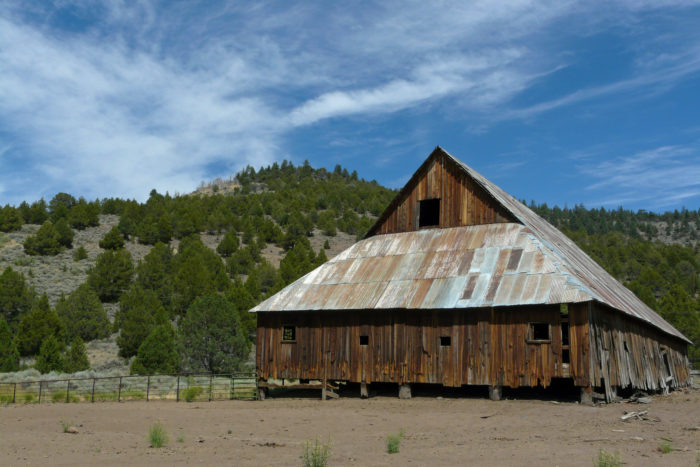 2. City of Sierraville is home to a barn with lots of character.