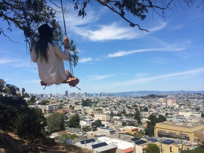 14. Go for a swing at Billy Goat Hill.