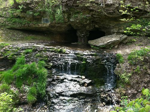 The cave and spring were named after Chief Black Hawk of the Sauk tribe.