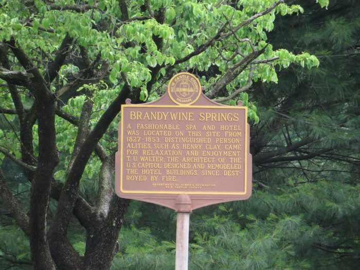 Brandywine Springs sign