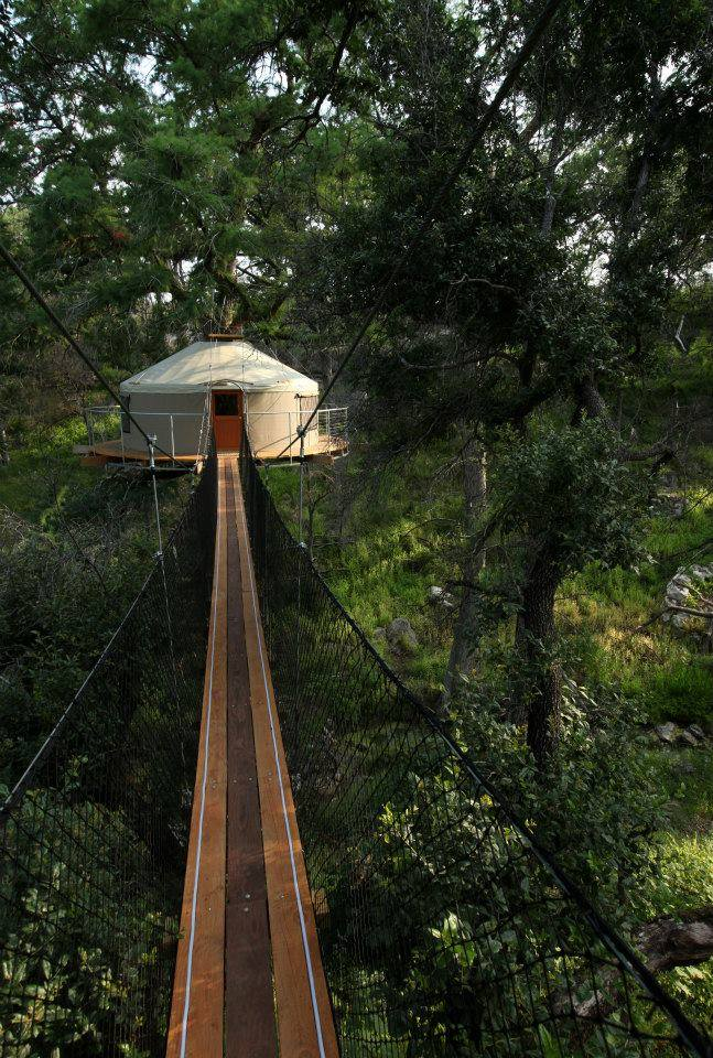 If you're still feeling too shaky to drive home afterwards, you can even spend the night in one of their treehouses! How cool is that?