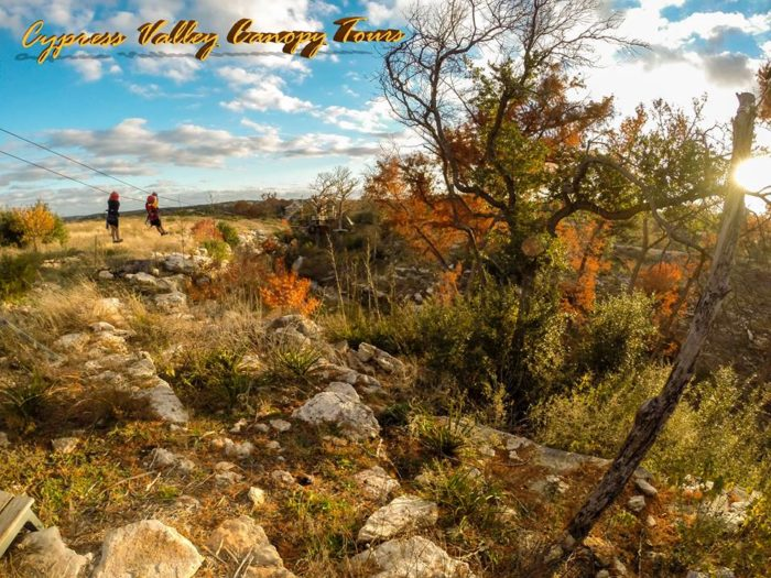 ...at the beautiful Texas Hill Country views surrounding you. This makes all the heart-pounding a million times worth it.