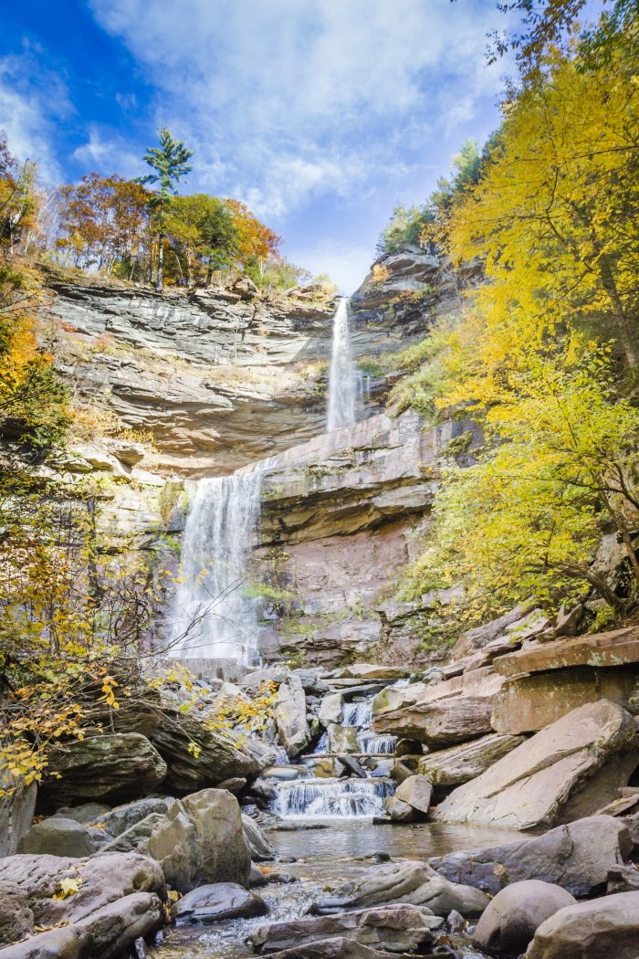 8. This two-tiered beauty is a sight every New Yorker should see for themselves at least once, Kaaterskill Falls.