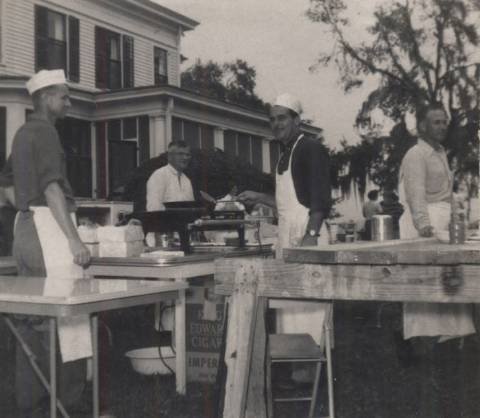 12. These volunteers are cooking for a church bazaar in Beaufort in the early 1960s.