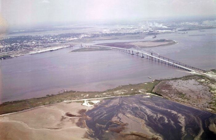 13. If you've ever wondered what Mt Pleasant looked like before all that development, then take a look at this photo taken in 1966 of the bridges over the Cooper River. Mt Pleasant is on the nearest side of the bridge.