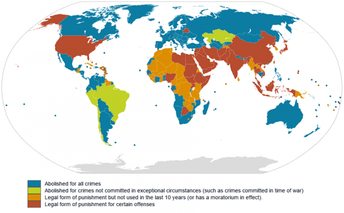 12. Countries that practice the death penalty.