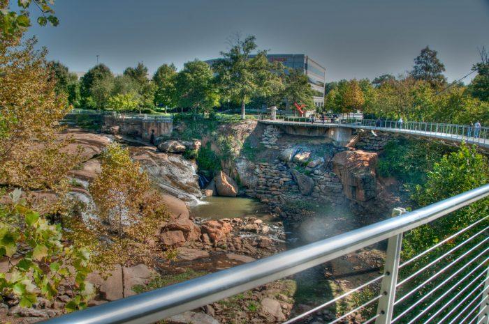 4. Walk across Liberty Bridge at Falls Park on the Reedy - Greenville, SC (take a selfie)