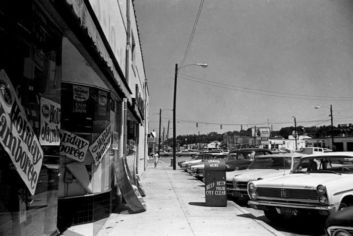 6. Five Points in Columbia in 1968...love the old cars!