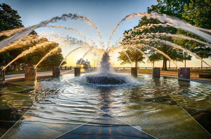 15. This beauty was snapped shortly after sunrise at Charleston's Waterfront Park. You can almost hear the children that will be playing in this fountain later in the day.