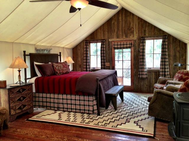 6. Instead of staying at a traditional Bed and Breakfast, go glamping at The Ranch at Rock Creek in Philipsburg.