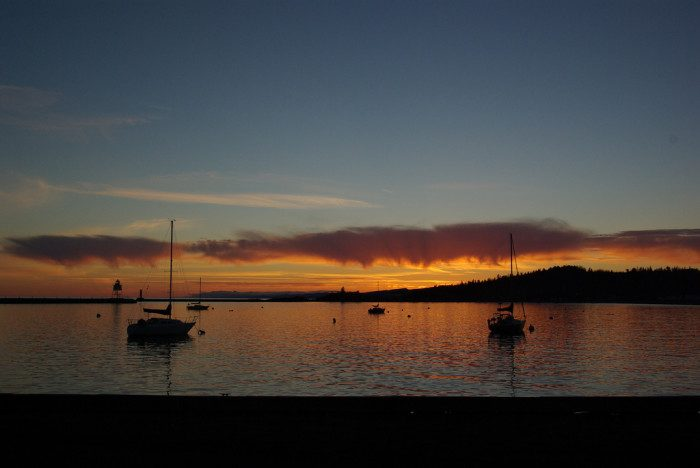 6. The harbor in Grand Marais is an amazing place for watching the sun sink below the horizon.