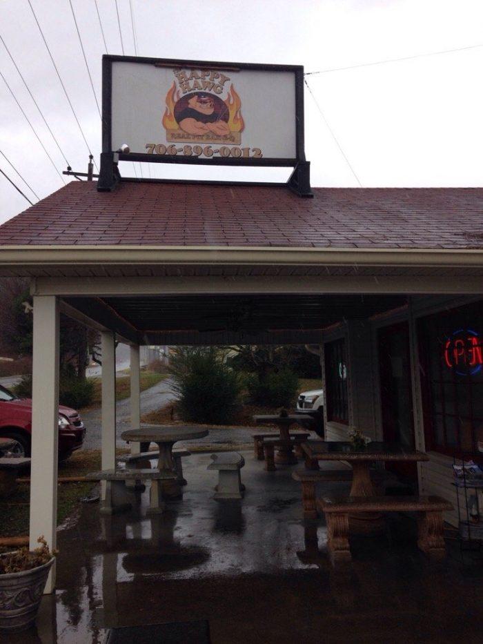 1. The Happy Hawg BBQ—1586 Hwy 76 W, Hiawassee, GA 30546