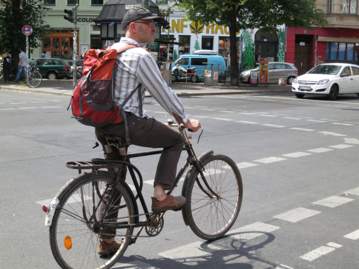 4. Riding a bike without a helmet.